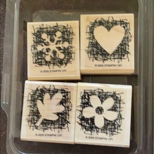 """2005 Stampin' Up! """"Made From Scratch"""" 4 pc set"""